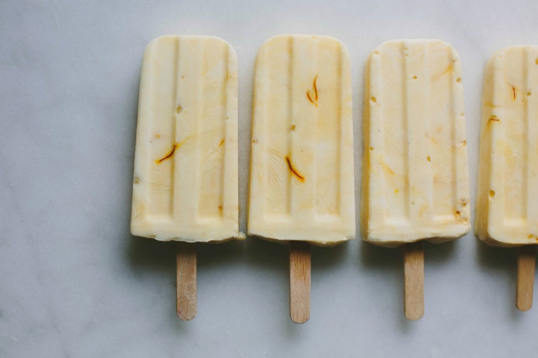 Manuka honey + saffron yoghurt pops | My Darling Lemon Thyme